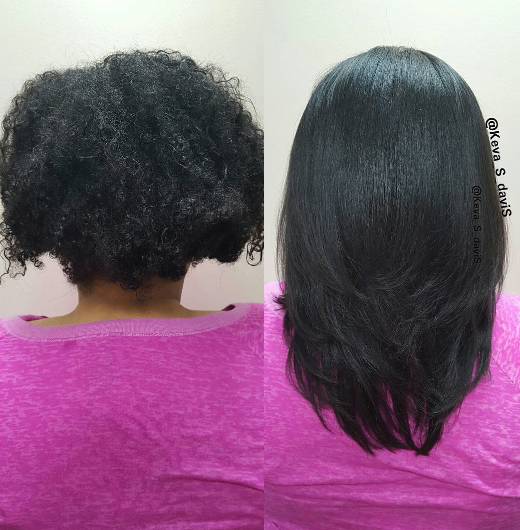 Natural Hair After Keratin Treatment
