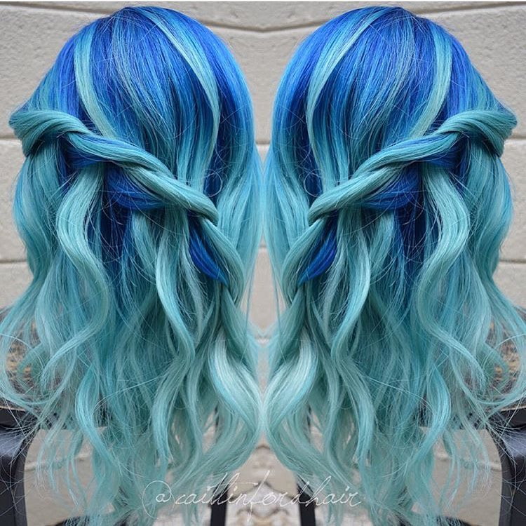 Blue Hair Blonde Dye