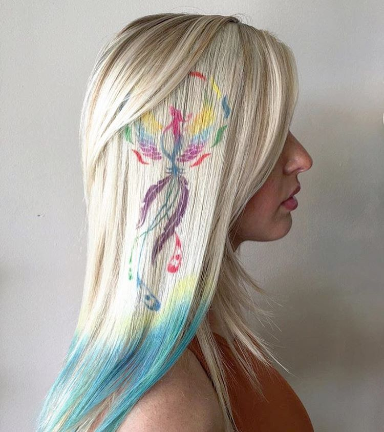 20 Futuristic Graffiti Hair Ideas