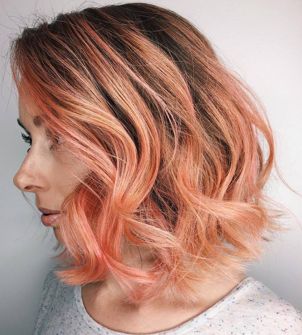 Peachy Keen Spring Hair Color