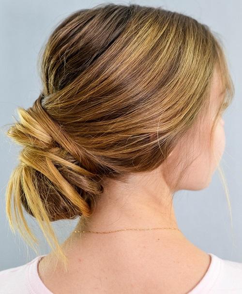 How To Do A Chignon Bun Easy Chignon Hair Tutorial
