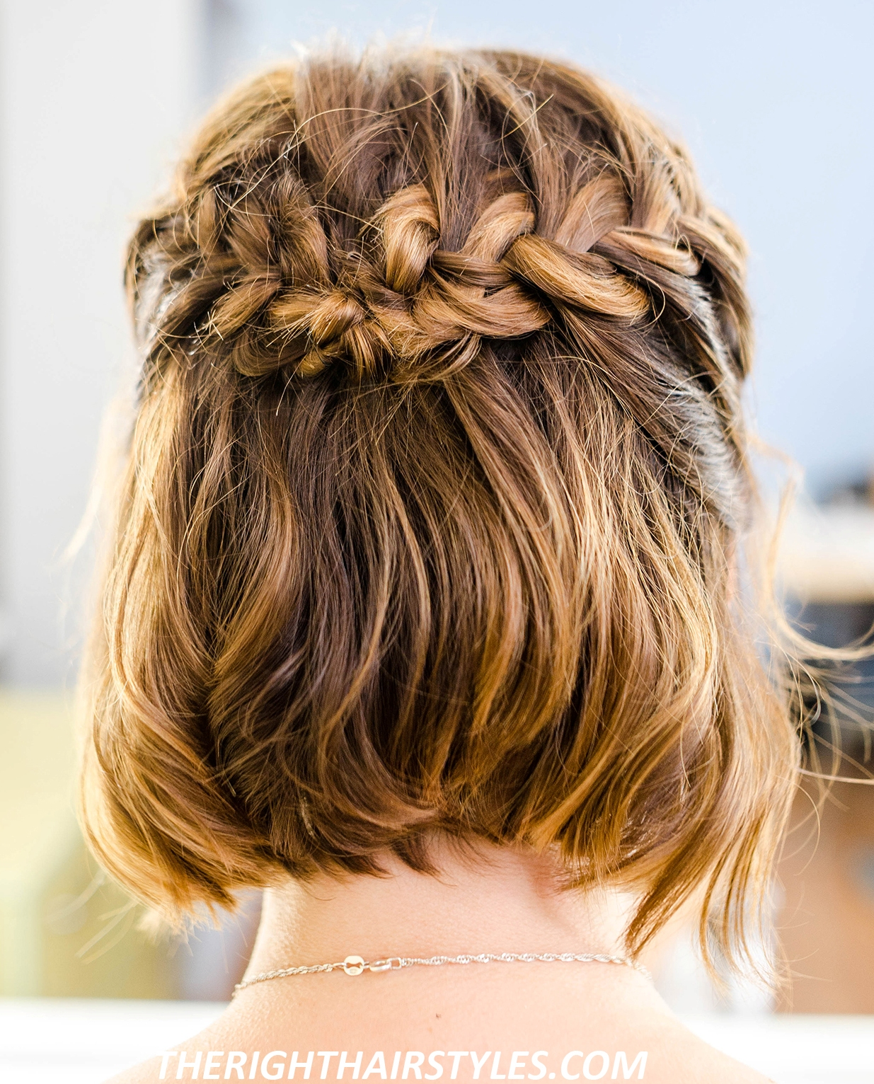 How To Do A Half-Up French Braid Crown In 6 Easy Steps