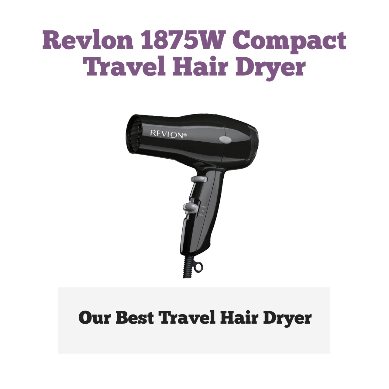 Revlon Compact Travel Hair Dryer